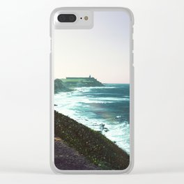 Castle By The Sea Clear iPhone Case