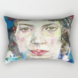EMILY DICKINSON - watercolor portrait.3 Rectangular Pillow