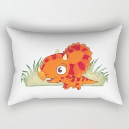 Big Eyed Triceratops Rectangular Pillow
