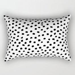 Dalmatian Dots Black White Spots Rectangular Pillow