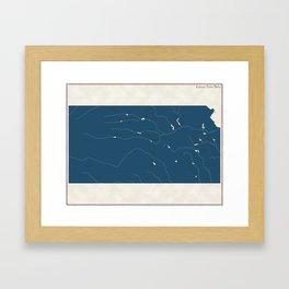 Kansas Parks - v2 Framed Art Print