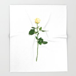 Yellow Rose (Color) Throw Blanket