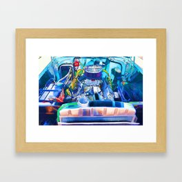 Automotive engine Framed Art Print