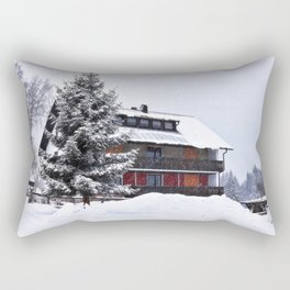 Winter in Fleckl, Germany Rectangular Pillow