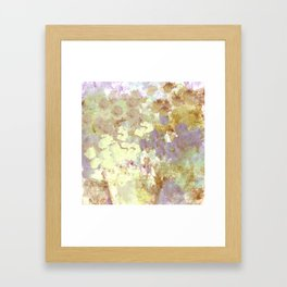 Lavender and Yellow Bouquet Framed Art Print