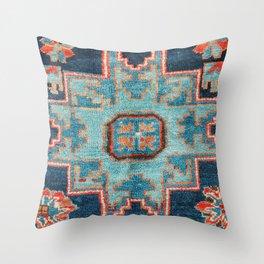 Karabakh  Antique South Caucasus Azerbaijan Rug Throw Pillow