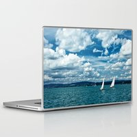boats Laptop & iPad Skins featuring Boats by Aleksandra Madejska