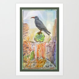 Bird on the Flower / Graja y Bejeque Art Print