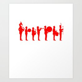 Marching band red Art Print