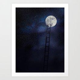 Moon up Art Print