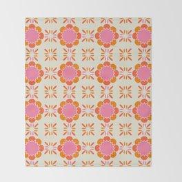Sixties Tile Throw Blanket