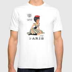 french girl  Mens Fitted Tee MEDIUM White