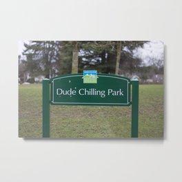 Dude Chilling Park Metal Print