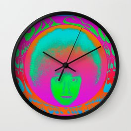 Psychedelic Music Festival Poster I Wall Clock