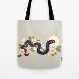 Snake and flowers 2 Tote Bag