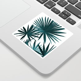 Fan Palm Leaves Jungle #1 #tropical #decor #art #society6 Sticker