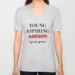 Young Aspiring Artist parody shirt Lyrical Genius Unisex V-Neck