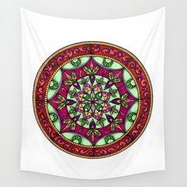 Garden Leaves Mandala Wall Tapestry