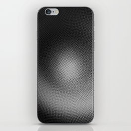 B&W Particle Spiral iPhone Skin