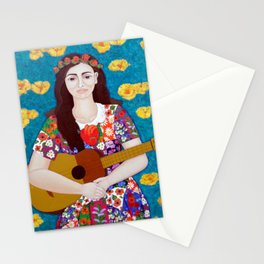Violeta Parra and the song The gardener Stationery Cards