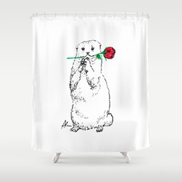 Otterly Romantic Shower Curtain