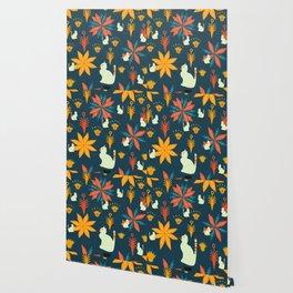 Tropical wild kitties Wallpaper