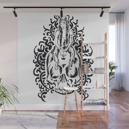 ONE INK SKULL Wall Mural
