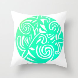 Inspired by a design in the Book of Kells Pastel Throw Pillow