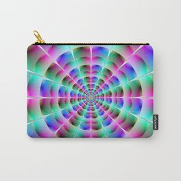 Time Tunnel in Blue and Pink Carry-All Pouch