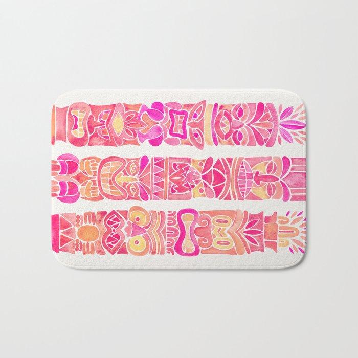 Tiki Totems – Pink Palette Bath Mat