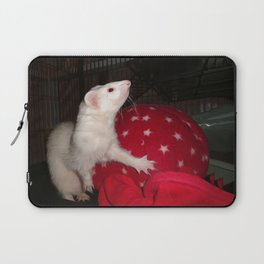 The Ivory Ferret and the Starry Red Bouncy House Laptop Sleeve
