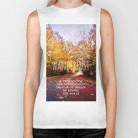 wanderlust Biker Tanks featuring wanderlust by Sylvia Cook Photography