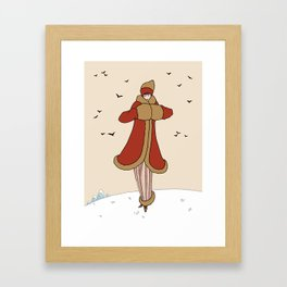 Art Deco Lady: BERNADETTE in Red and Gold Framed Art Print