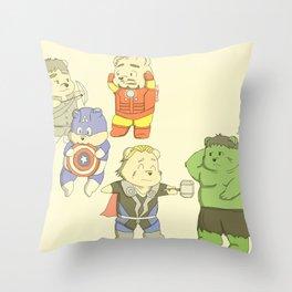 The Chubvengers Throw Pillow