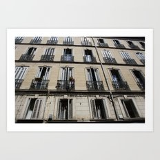 Architecture photograph made in Provence France of a characteristic Rivierea Louvre style house Art Print