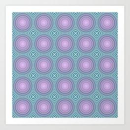 Candy illusion mandala Art Print