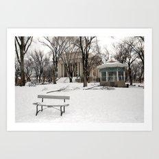 Winter time - Courthouse in Prescott AZ - Wiskey Row Art Print