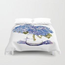 Hydrangea painting Duvet Cover