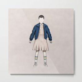 Eleven without a face (Stranger T.) Metal Print