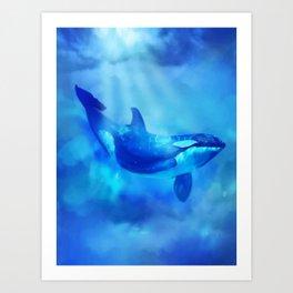 Orca Sea Panda Under the Sea Art Print
