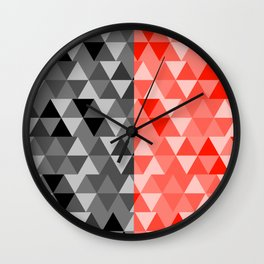 triangle designs Wall Clock