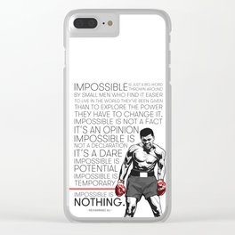 Ali 'The Champ' Boxing Clear iPhone Case