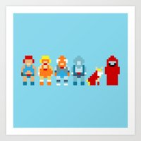 thundercats Art Prints featuring Thundercats by Pixel Icons