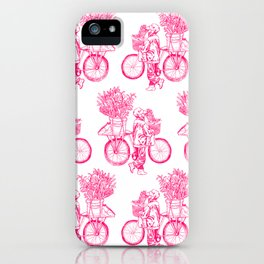 Bicycle Flower Seller in Hanoi iPhone Case