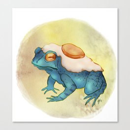 Eggy Toad Canvas Print