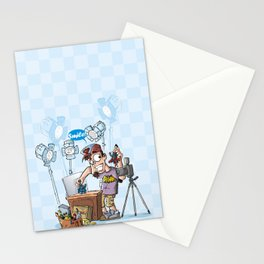 Action Figures Photographer Stationery Cards