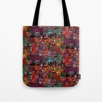 cities Tote Bags featuring Cities on Cities by Killian Hlava