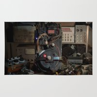 "ghostbusters Area & Throw Rugs featuring Ghostbusters - ""Workbench""  by Matthew Clark"