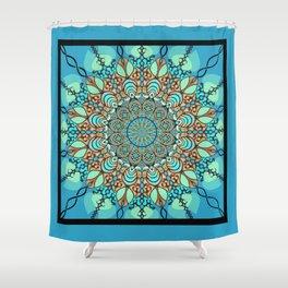 Zentangle Mandala 180218 - Bohemian Mandala Shower Curtain