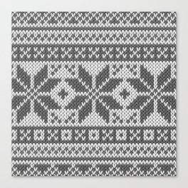 Winter knitted pattern4 Canvas Print
